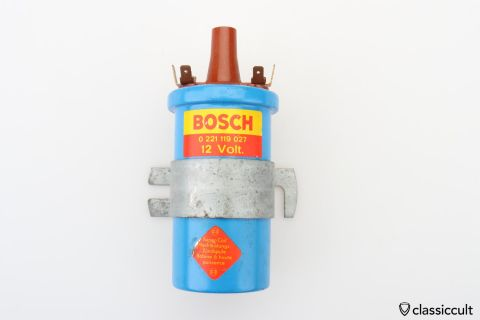 blue Bosch Super Coil # 0221119027 NOS