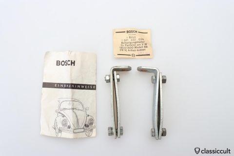 VW Bug 1968 Bosch fanfare horn brackets