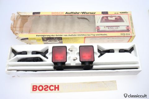 Bosch 3rd Brake lights Stop Lamps 1980 NOS