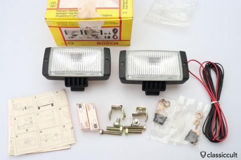 12V Bosch Monte Carlo fog lamps 1982 NOS