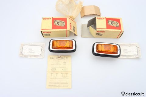 Bosch glass lens indicator light NOS
