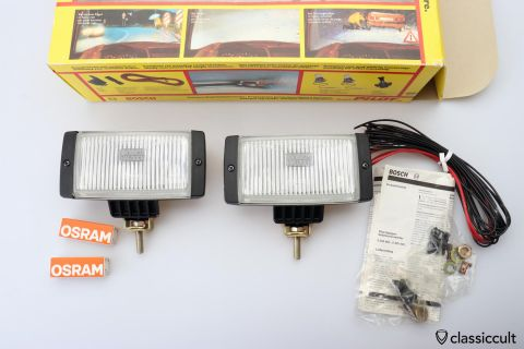 Bosch Pilot Halogen fog lights 1982 NOS
