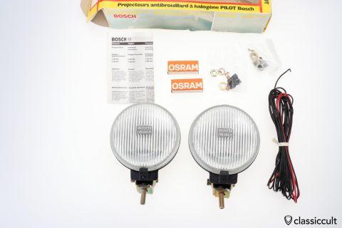 1978 Bosch H3 Halogen Pilot fog lamps 140mm NOS
