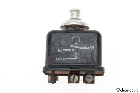 Rare BOSCH SH/LZE 1/2 Relay with Switch 12V 1965
