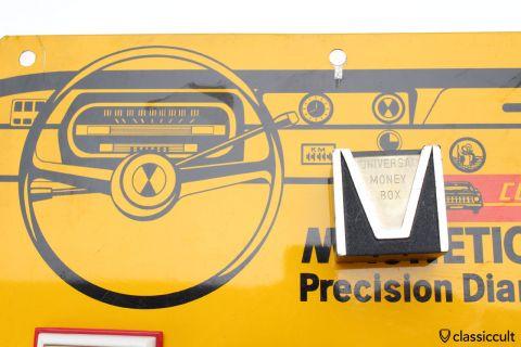 Magnetic dash money box VW Beetle Bus NOS