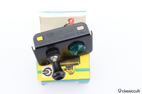 DDR AKA VEB fog lamp switch Trabant NOS
