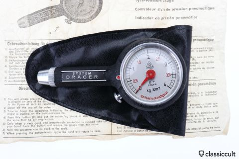 DRAEGER Tyre Air Pressure Gauge Pouch Instruction