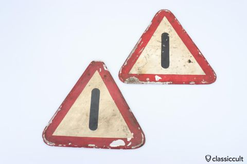 Vintage emergency triangle sheet metal