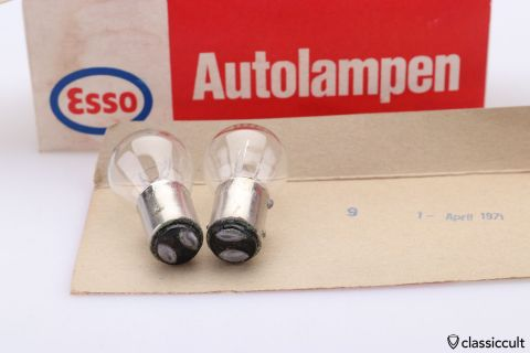 10x Esso 6V 18/5W bulb Germany NOS