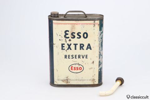 4 Liter Esso EXTRA RESERVE fuel gas can