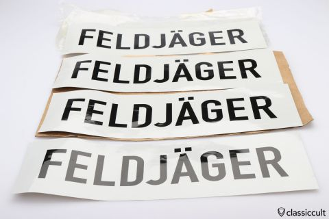 FELDJÄGER sticker German military police NOS