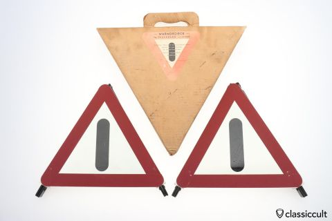 FEUERHAND hazard warning triangle set 60ies NOS BOX