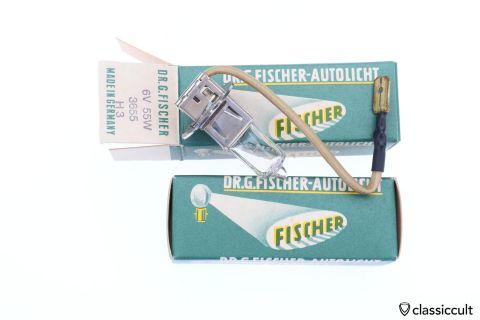 Fischer 6V 55W H3 bulb Germany NOS