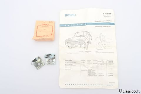 Ford Taunus 17m Bosch fog light brackets