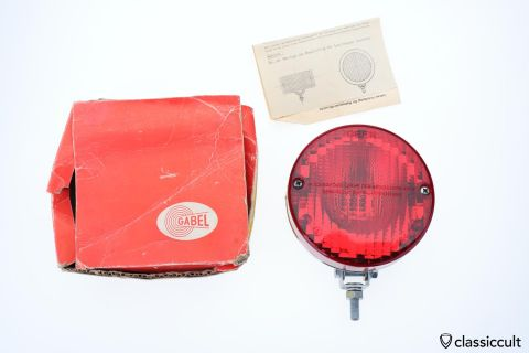 red GABEL Rear Fog Lamp K8458 foglight NOS