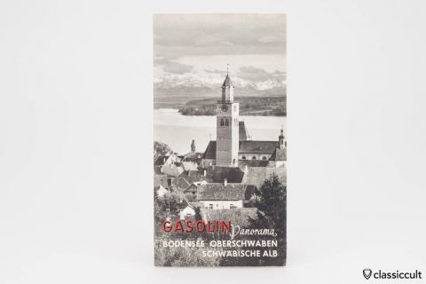 Gasolin Lake Constance VW Dealer Map 1956