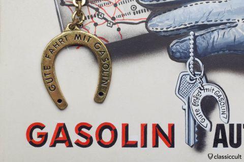 Gasolin Key Fob Horseshoe Keychain Gute Fahrt