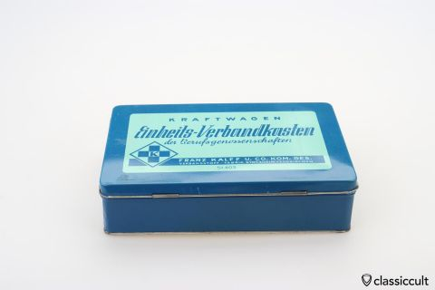German Car first aid box 60ies