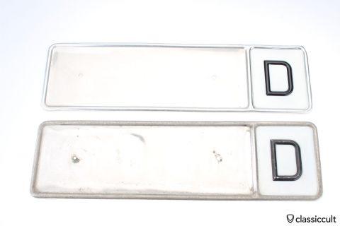 Vintage German license plate frame NOS