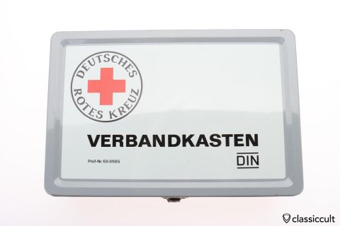 German Red Cross first aid kit tin box
