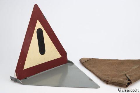 German Emergency safety triangle 1954