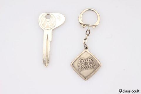 Vintage Gute Fahrt Key Fob silver