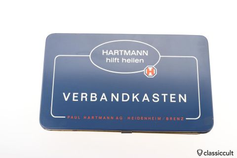 German Hartmann car first aid box 60ies