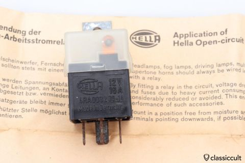 Hella 12V fog light horn relay 1976 NOS
