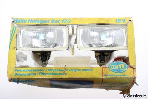 Hella 173 Halogen foglights NOS