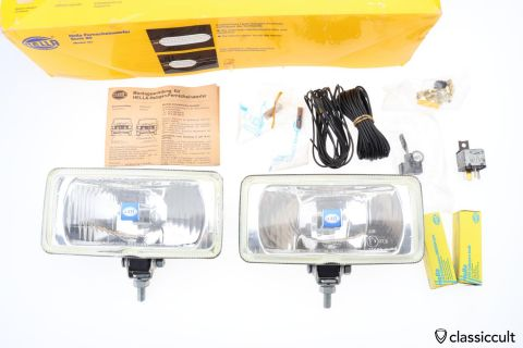 Hella 181 Halogen Fog Lights 1981 NOS