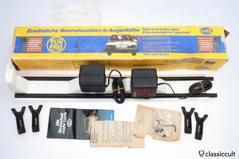 Hella High Level 3rd Brake Lights 1979 1980 NOS