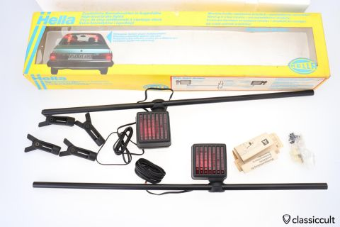 Hella High Level 3rd Brake Lights Germany 1979 NOS