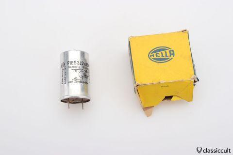 6V Hella flasher relay 91ES3J 2x18W NOS