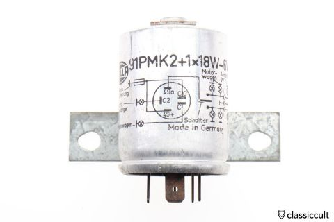 6V Hella Trailer Flasher Relay 91PMK2+1x18W