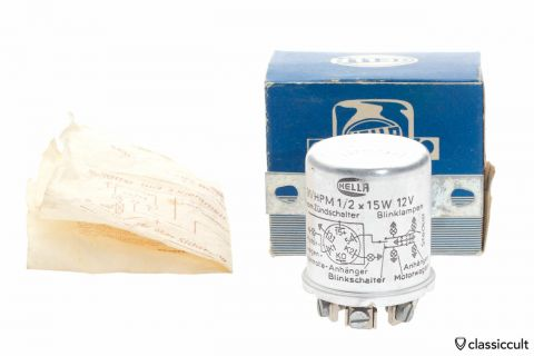 Hella Flasher Relay Flashing Light System 12V NOS