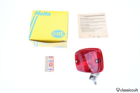 red Hella Rear Fog Lamp 1979 NES foglight NOS