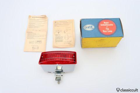 red Hella fog lamp NES4CC 1978 NOS
