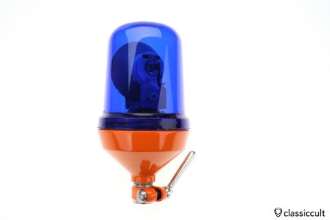 Hella KL 60 KLJ flash light beacon with blue lens 12V