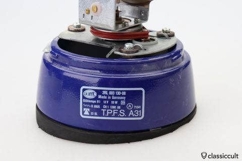 Hella KL70 light seal slanted round roof