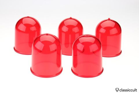 red Hella KL6 KL7 light beacon lens NOS