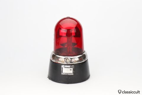 Hella KL7 light beacon B1002 red lens 12V