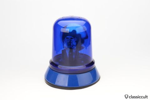 Hella KL80 light beacon blue lens 12V 1977