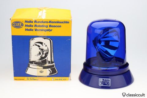 Hella KL80 Rotating Police Beacon Lamp NOS BOXED