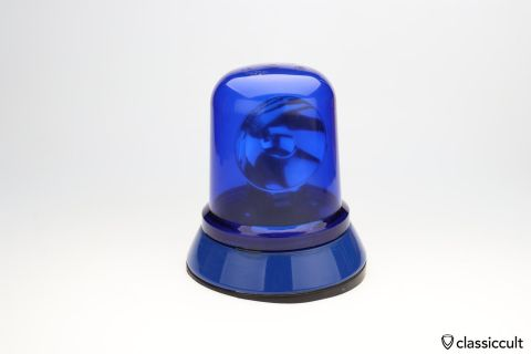 used 12V Hella Rotating Beacon KL 80 with blue lens