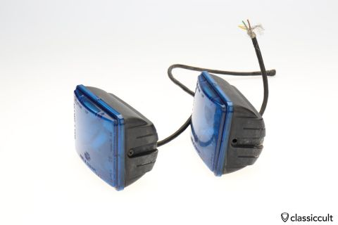 Hella Police Flasher light lamps blue 71482 CH1 2077