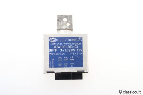 Hella Electronic Warn Flasher Relay 4DW 001 863-03