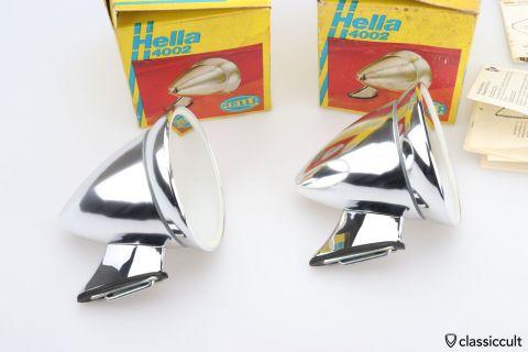 Vintage Hella Sport Mirror Set NOS