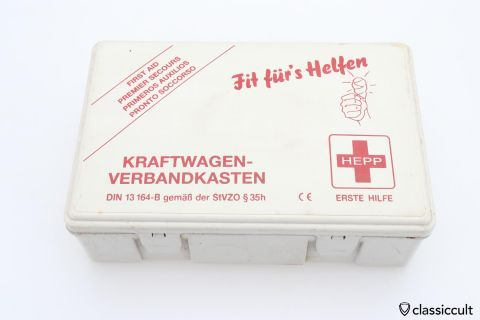 HEPP Germany car fist aid kit box 1998