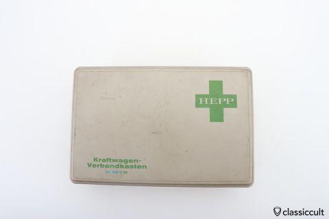 HEPP Germany car fist aid kit box 70ies