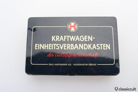 Vintage German Kraftwagen first aid kit